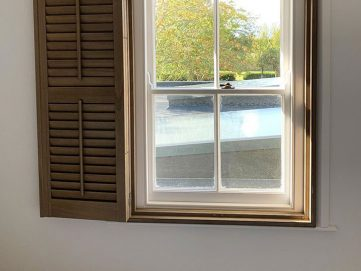 Shutters installed in cottage